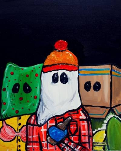 A NL Christmas Tradition paint nite project by Yaymaker