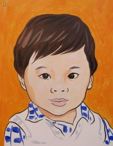 A Pop Art a Portrait paint nite project by Yaymaker
