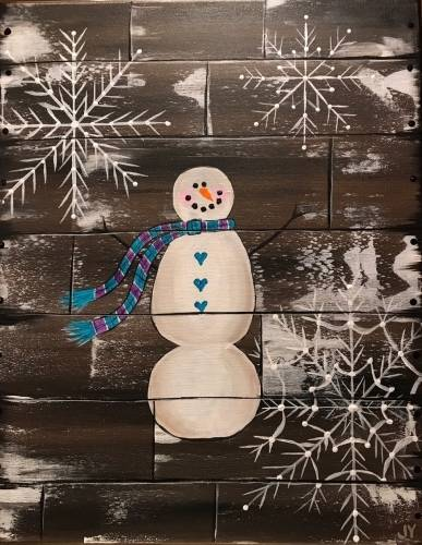 A The Crate Snowman paint nite project by Yaymaker