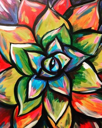 A Succulent Splash paint nite project by Yaymaker