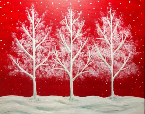 A Red and White Treeo Delight paint nite project by Yaymaker