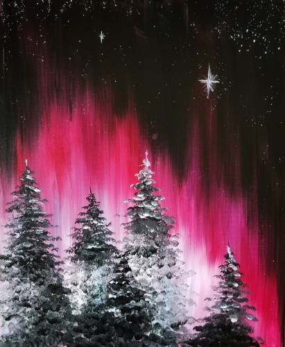A Winter Aurora paint nite project by Yaymaker