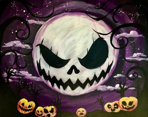 A Grimm Grinning Pumpkins paint nite project by Yaymaker