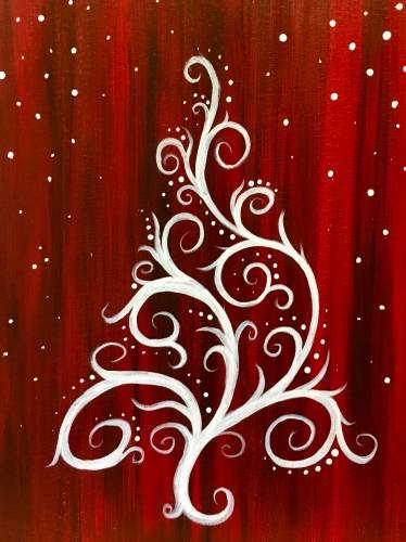 A Holly Jolly Christmas Tree paint nite project by Yaymaker