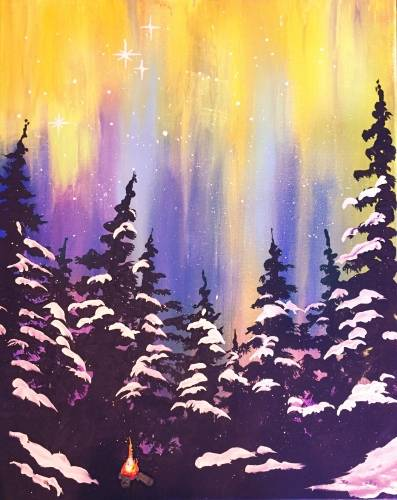 A Tiny Winter Fire paint nite project by Yaymaker