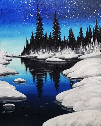 A Cold River paint nite project by Yaymaker