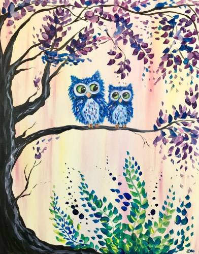 A Owl Love You Always paint nite project by Yaymaker