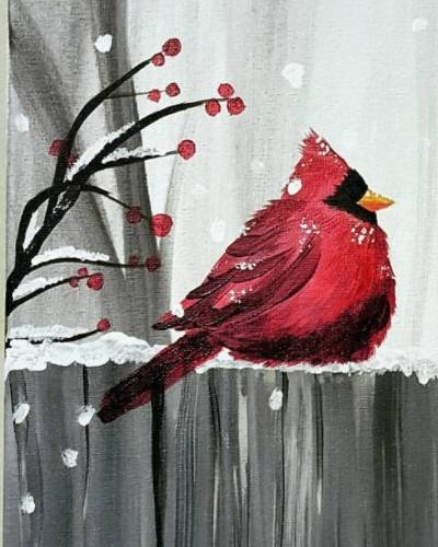 A Chubby Chilly Cardinal II paint nite project by Yaymaker