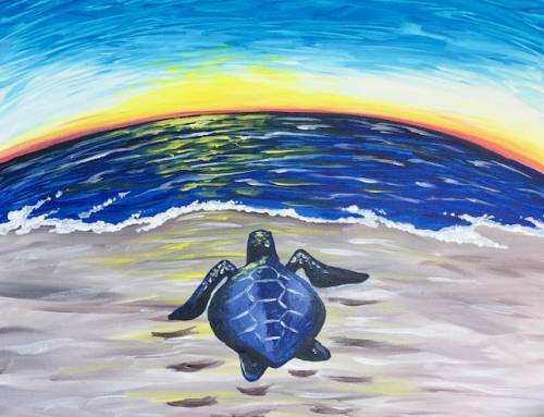 A Turtle Crawl paint nite project by Yaymaker