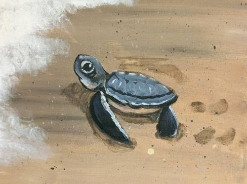 A Frank the Turtle paint nite project by Yaymaker