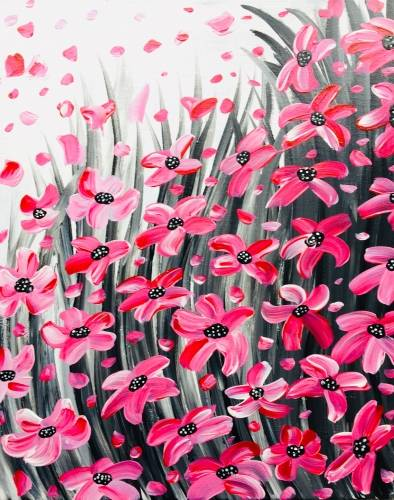 A Pink Petals in the Wind paint nite project by Yaymaker