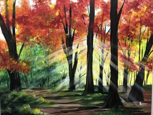 A Rays of Autumn paint nite project by Yaymaker