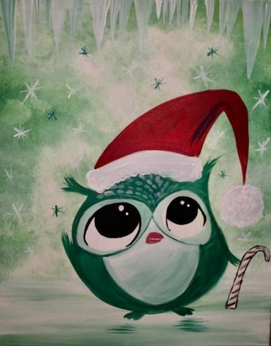 A The Owly Grinch paint nite project by Yaymaker