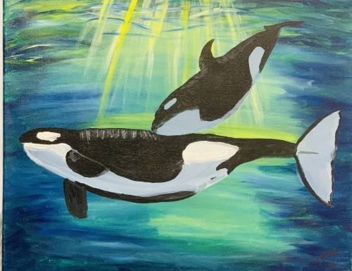 A Orcas paint nite project by Yaymaker