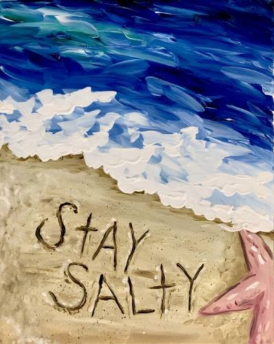 A Stay Salty paint nite project by Yaymaker