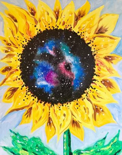 A Sunflower Galaxy paint nite project by Yaymaker