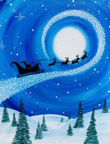 A The Magic of Santas Christmas Flight paint nite project by Yaymaker