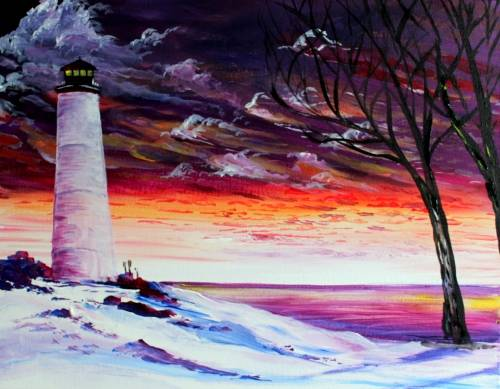 A Winters Allure paint nite project by Yaymaker
