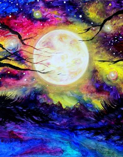 A Magical Moonlight paint nite project by Yaymaker