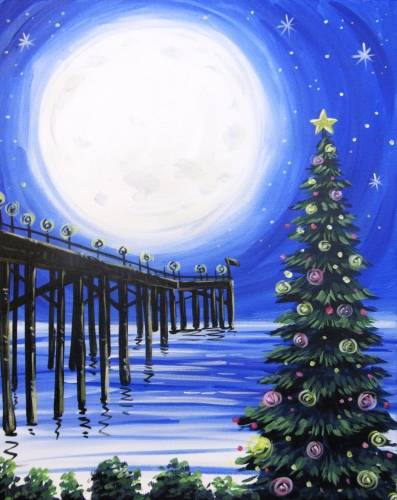 A Christmas at the Pier paint nite project by Yaymaker