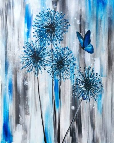 A Azure Dandelions paint nite project by Yaymaker