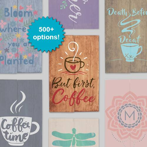 A Design a Sign Coffee Bar design a sign project by Yaymaker