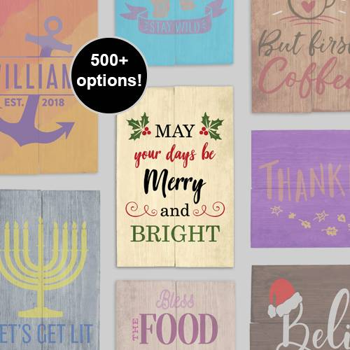 A NEW DIY Stencil Wood Signs  Holiday Cheer Design a Sign design a sign project by Yaymaker