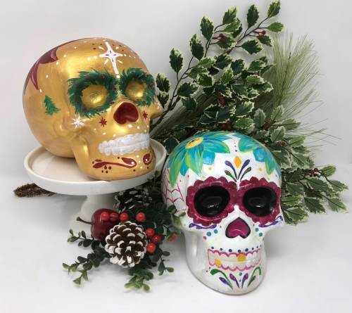 A Ceramic Skulls II ceramic painting project by Yaymaker