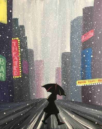 A NYC in the Snow paint nite project by Yaymaker
