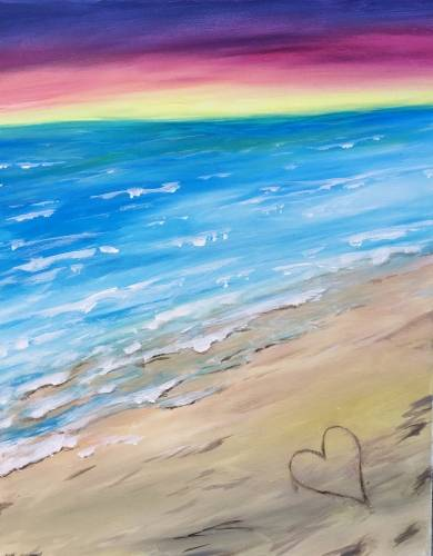 A Love the Beach paint nite project by Yaymaker