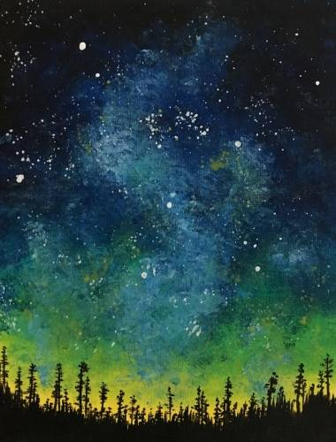 A Woodland Galaxy paint nite project by Yaymaker