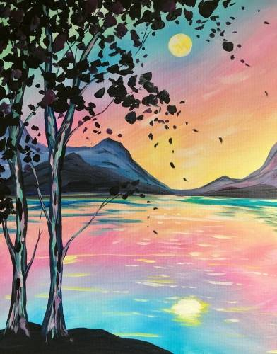 A Radiant Rising paint nite project by Yaymaker