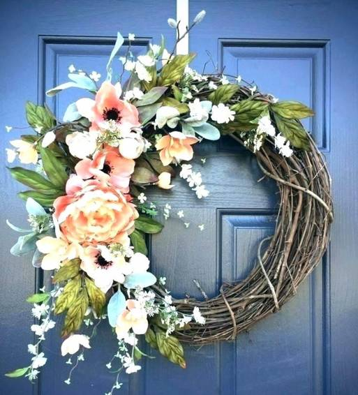 A Vintage Spring Wreath plant nite project by Yaymaker
