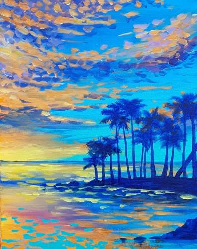 A Bright Ocean Sky paint nite project by Yaymaker