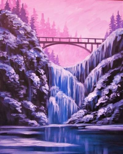 A Frozen Falls paint nite project by Yaymaker