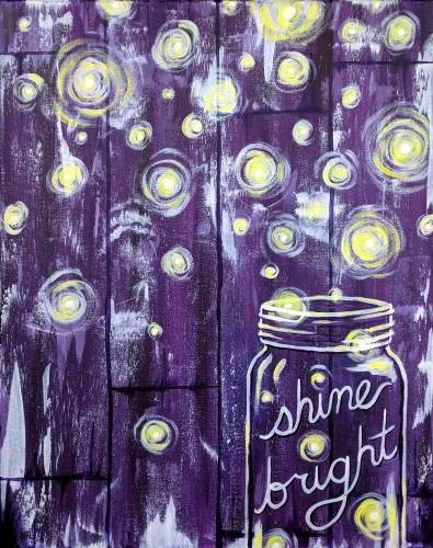 A Barnyard Fireflies paint nite project by Yaymaker
