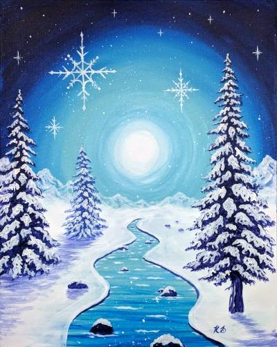 A The Beauty of Winter paint nite project by Yaymaker