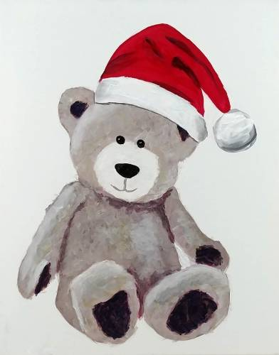 A Beary Christmas paint nite project by Yaymaker