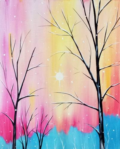 A Sorbet Snowfall paint nite project by Yaymaker