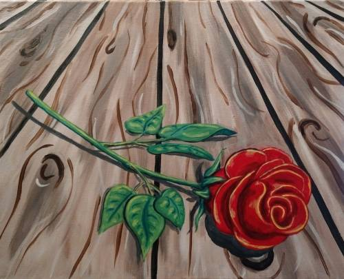 A Rose on the Porch paint nite project by Yaymaker