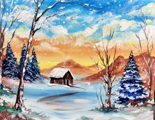 A Staying Warm in Winter paint nite project by Yaymaker