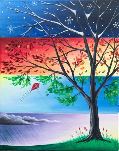 A Seasons Change II paint nite project by Yaymaker