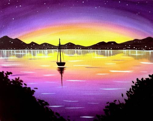 A Night Sail II paint nite project by Yaymaker