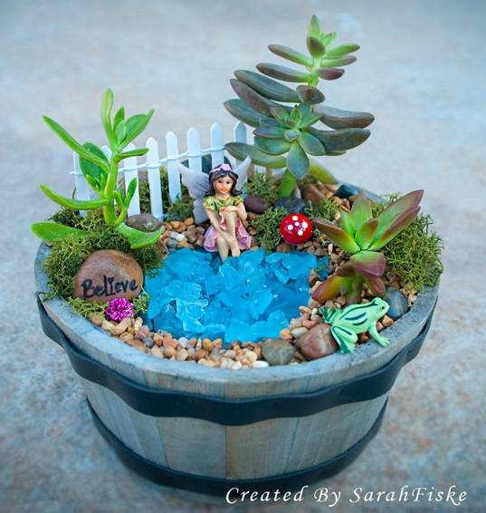 A Fairy Whiskey Barrel plant nite project by Yaymaker