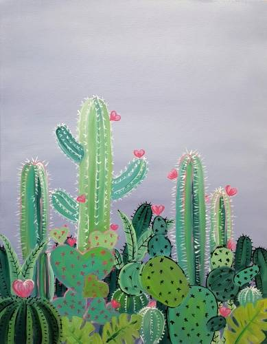 A The Love Cactus paint nite project by Yaymaker