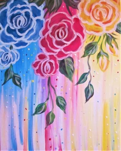A Primary Roses paint nite project by Yaymaker
