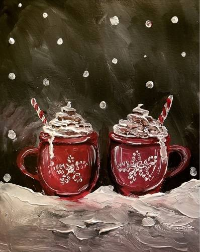 A Keep Warm and Sweet paint nite project by Yaymaker