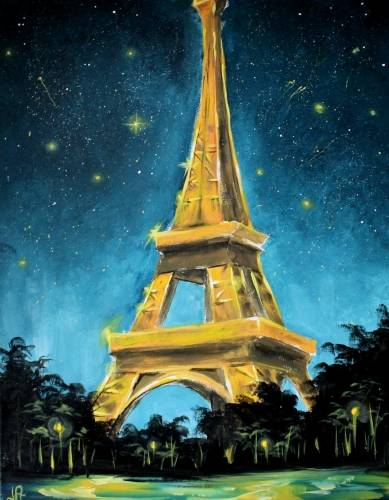 A Paris Night paint nite project by Yaymaker