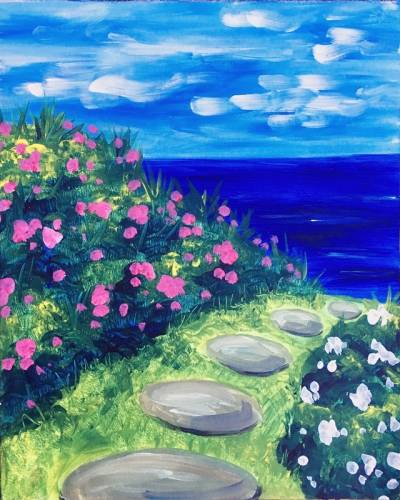 A Spring Beach Path paint nite project by Yaymaker