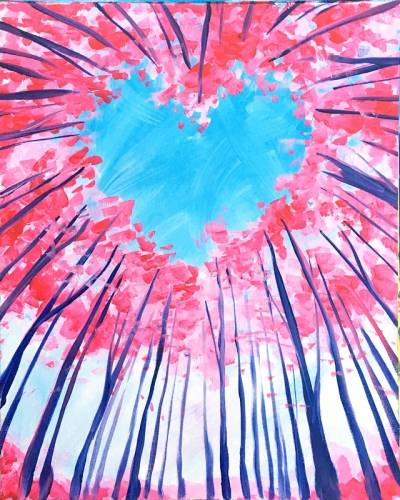 A The Heart of Spring paint nite project by Yaymaker